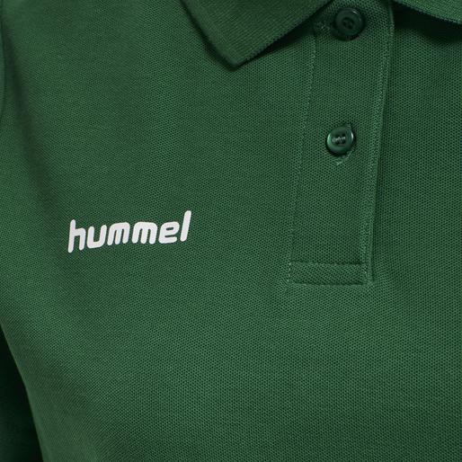 HUMMEL GO COTTON POLO WOMAN, EVERGREEN, packshot