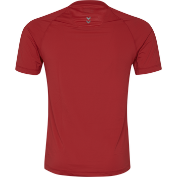 HUMMEL FIRST PERFORMANCE JERSEY S/S, TRUE RED, packshot
