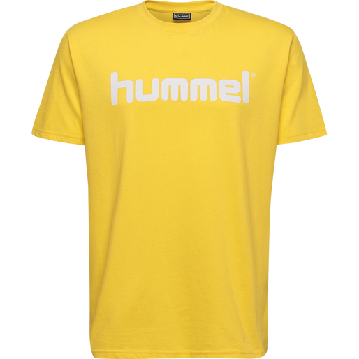 HUMMEL GO COTTON LOGO T-SHIRT S/S, SPORTS YELLOW, packshot