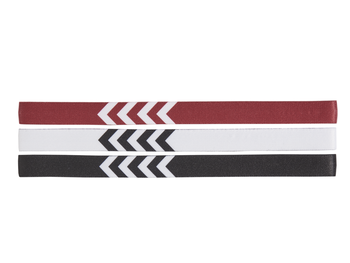 3-PACK HEADBAND, WHITE/BLACK/TRUE RED, packshot