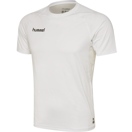 HUMMEL FIRST PERFORMANCE KIDS JERSEY S/S, WHITE, packshot