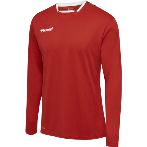hmlAUTHENTIC POLY JERSEY L/S, TRUE RED, packshot