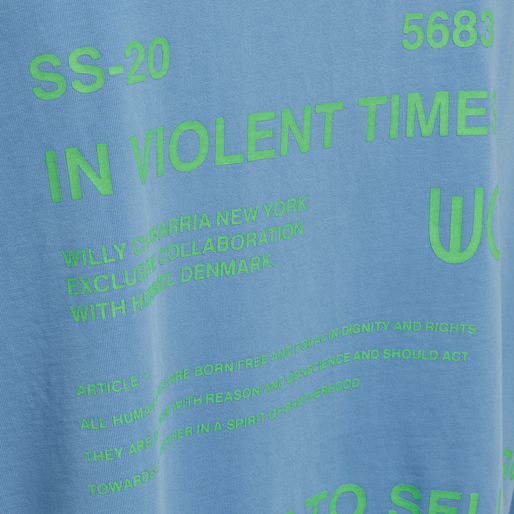 hmlWILLY RUFF NECK T-SHIRT L/S, ATOMIC BLUE, packshot