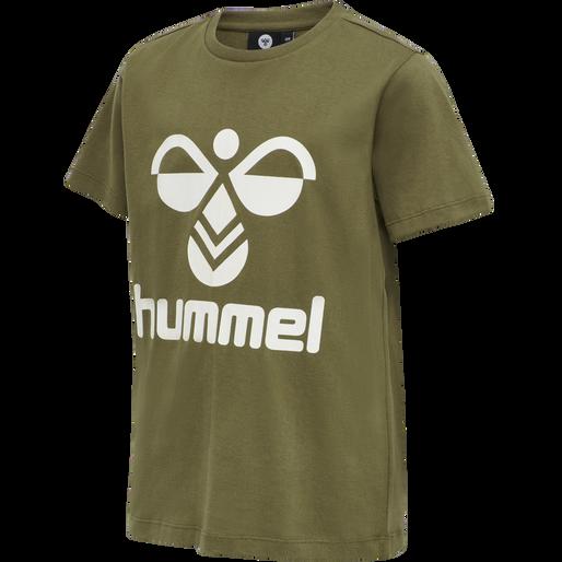 hmlTRES TEE SHIRT S/S, MILITARY OLIVE, packshot
