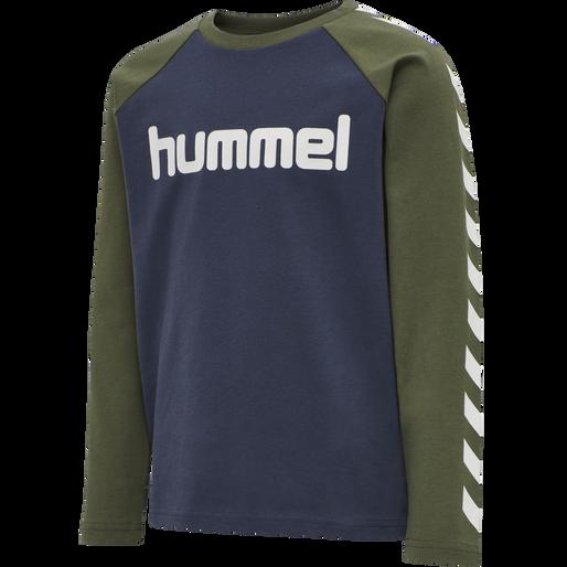 hmlBOYS T-SHIRT LS, IVY GREEN, packshot