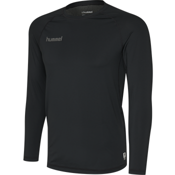 HUMMEL FIRST PERFORMANCE KIDS JERSEY L/S, BLACK, packshot