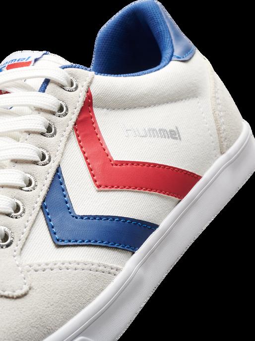 HUMMEL SLIMMER STADIL LOW, WHITE/BLUE/RED/GUM, packshot