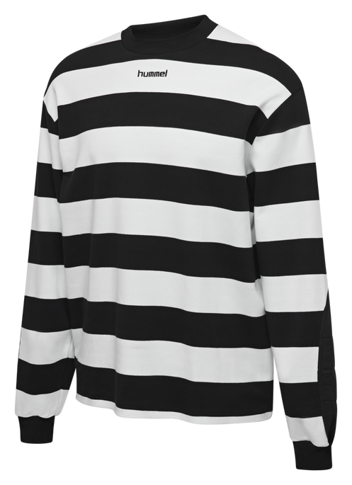 hmlCOLD HAWAII LOOSE SWEATSHIRT, BLACK, packshot