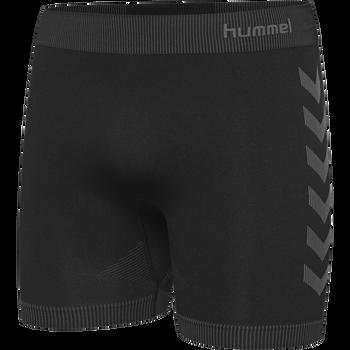 HUMMEL FIRST SEAMLESS SHORT TIGHTS, BLACK, packshot