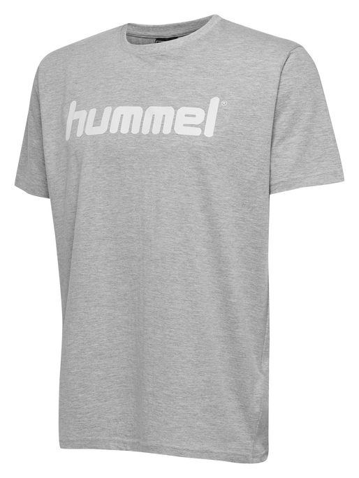 HUMMEL GO COTTON LOGO T-SHIRT S/S, GREY MELANGE, packshot