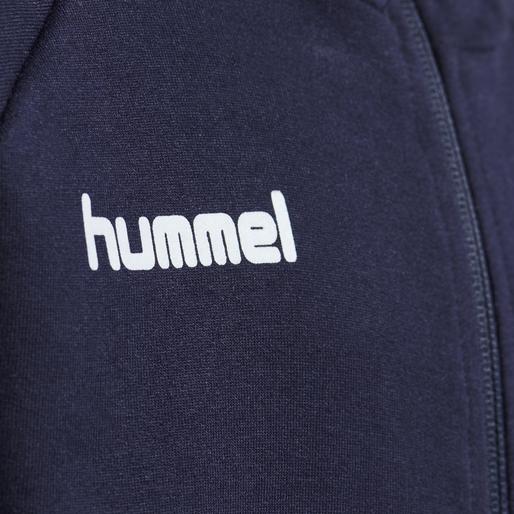 HUMMEL GO KIDS COTTON ZIP HOODIE, MARINE, packshot