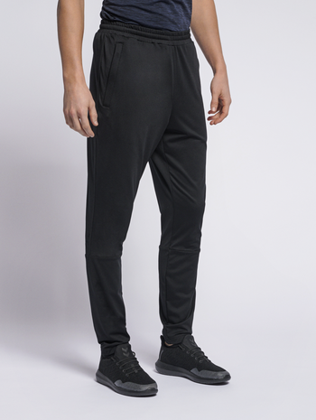 hmlASTON TAPERED PANTS, BLACK, model