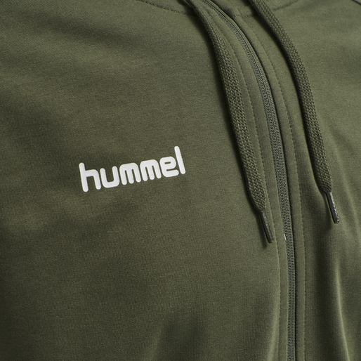 HUMMEL GO COTTON ZIP HOODIE, GRAPE LEAF, packshot