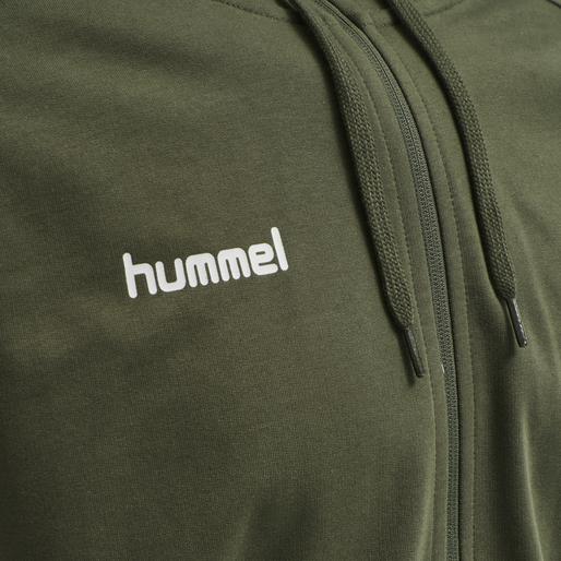 HUMMEL GO COTTON ZIP HOODIE, GRAPE LEAF, packshot