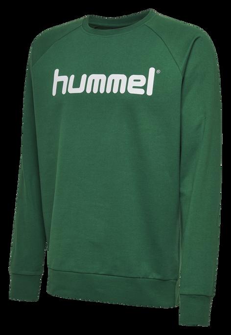 HUMMEL GO KIDS COTTON LOGO SWEATSHIRT, EVERGREEN, packshot