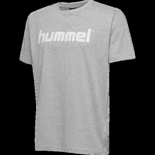 HUMMEL GO COTTON LOGO T-SHIRT S/S, GREY MELANGE, packshot