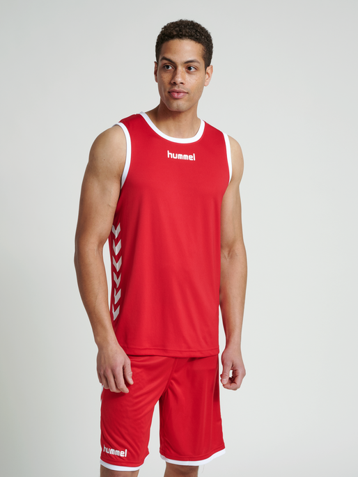 CORE BASKET JERSEY, TRUE RED, model