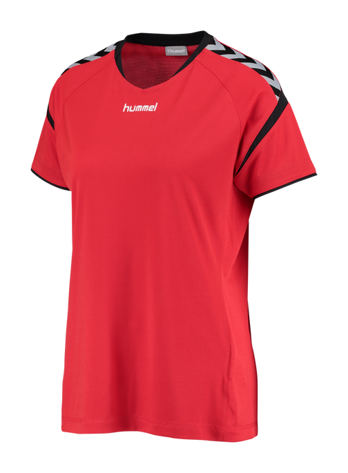 AUTHENTIC CHARGE SS POLY JERSEY WOMAN, TRUE RED, packshot