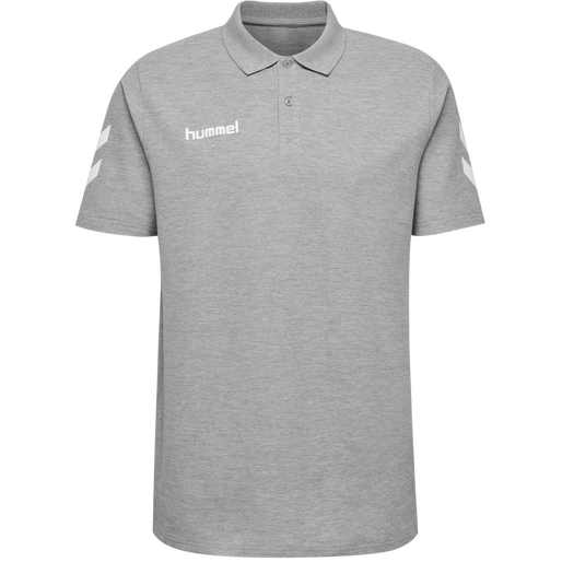 HUMMEL GO KIDS COTTON POLO, GREY MELANGE, packshot