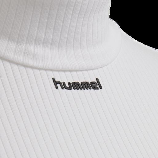 hmlCAROLINE RIB TURTLENECK S/S, WHITE, packshot
