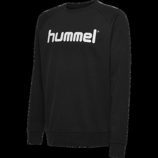 HUMMEL GO COTTON LOGO SWEATSHIRT, BLACK, packshot