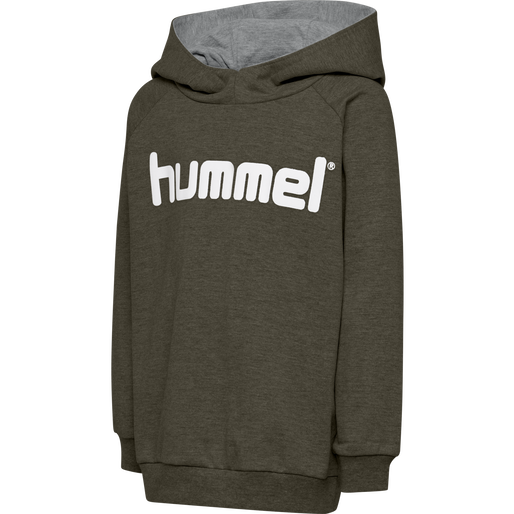 HUMMEL GO COTTON LOGO HOODIE, GRAPE LEAF, packshot