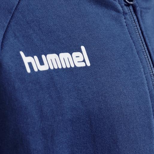HUMMEL GO KIDS COTTON ZIP HOODIE, TRUE BLUE, packshot