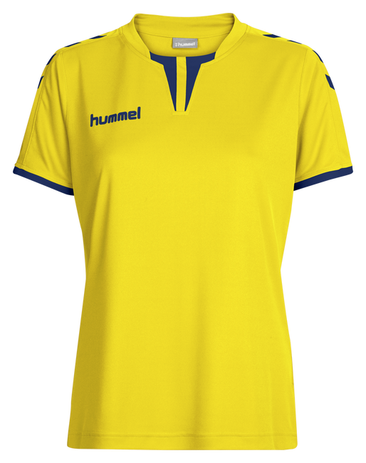 CORE WOMENS SS JERSEY, SPORTS YELLOW/TRUE BLUE, packshot