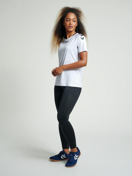 CORE TIGHTS WOMAN, BLACK, model