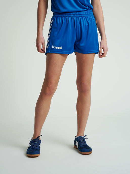 CORE WOMENS SHORTS, TRUE BLUE PR, model