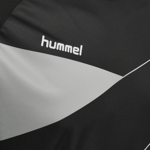 HUMMEL COURT JERSEY S/S, BLACK/HIGH RISE, packshot