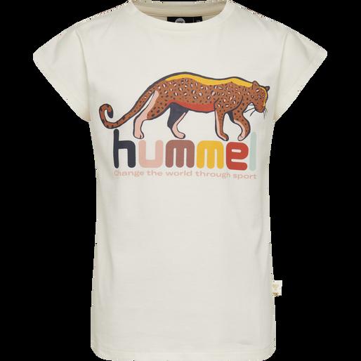 hmlINA T-SHIRT S/S, WHISPER WHITE, packshot