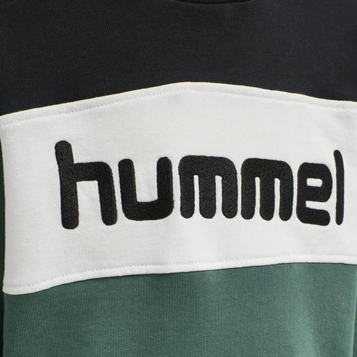 hmlMORTEN HOODIE, MALLARD GREEN, packshot