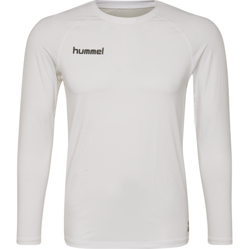 HUMMEL FIRST PERFORMANCE KIDS JERSEY L/S, WHITE, packshot