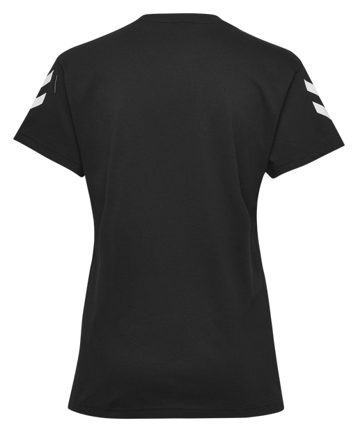 HUMMEL GO COTTON T-SHIRT WOMAN S/S, BLACK, packshot