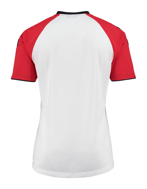AUTH. CHARGE SS POLY JERSEY, WHITE/TRUE RED, packshot