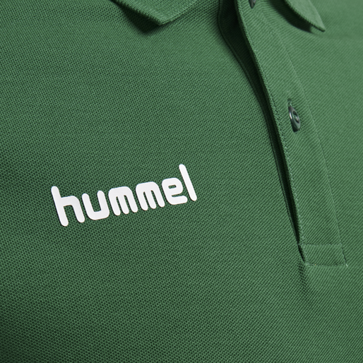 HUMMEL GO COTTON POLO, EVERGREEN, packshot