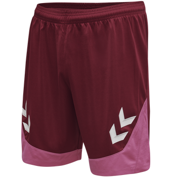 hmlLEAD POLY SHORTS, BIKING RED, packshot