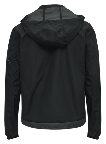 hmlNORTH SHELL JACKET, BLACK/ASPHALT, packshot
