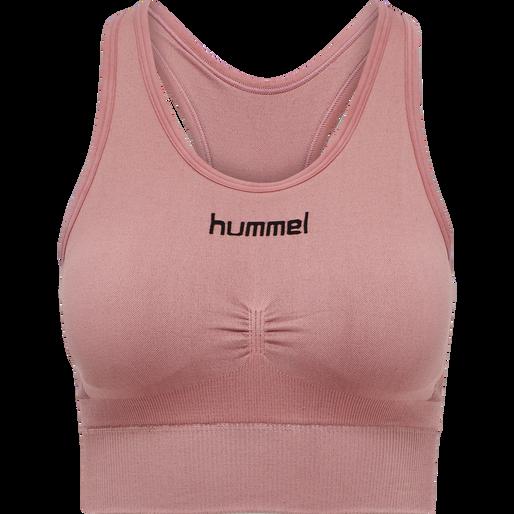 HUMMEL FIRST SEAMLESS BRA WOMEN, DUSTY ROSE, packshot