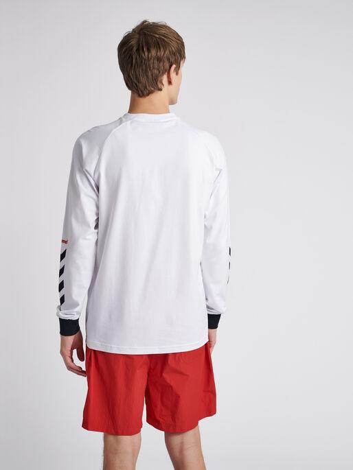 hmlKROVEJ T-SHIRT L/S, WHITE, model