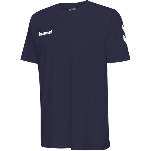 HUMMEL GO COTTON T-SHIRT S/S, MARINE, packshot
