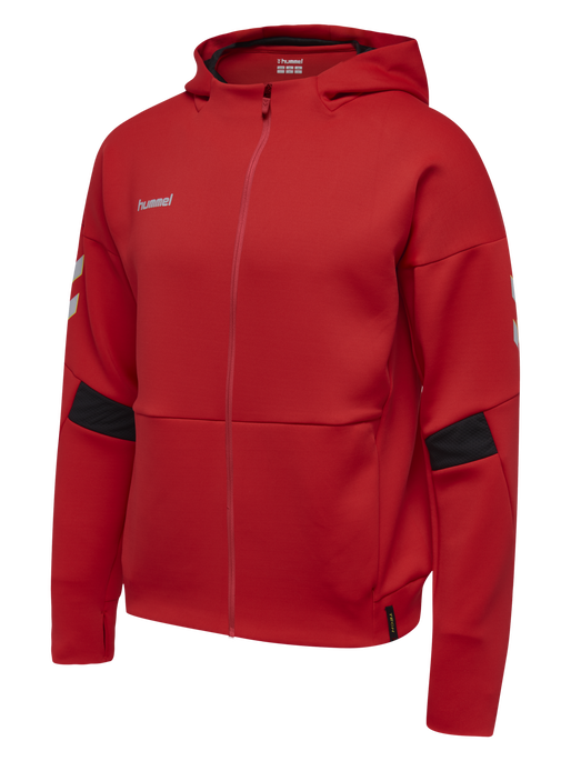 TECH MOVE KIDS ZIP HOOD, TRUE RED, packshot