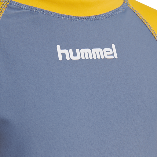 hmlBRISBANE SWIM TEE L/S, COPEN BLUE, packshot