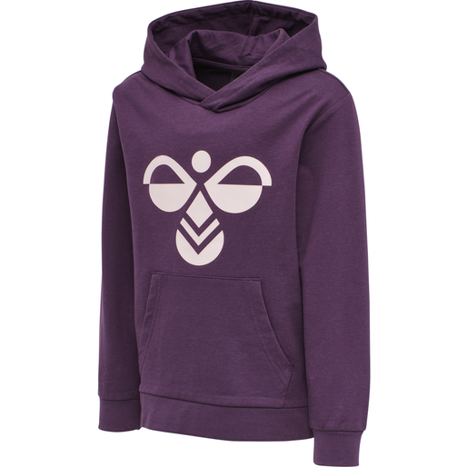 hmlCUATRO HOODIE, BLACKBERRY WINE, packshot