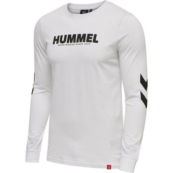 hmlLEGACY T-SHIRT L/S, WHITE, packshot