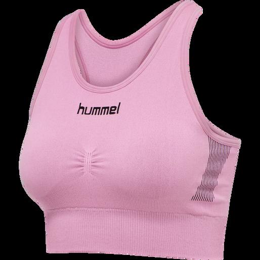 HUMMEL FIRST SEAMLESS BRA WOMEN, COTTON CANDY, packshot