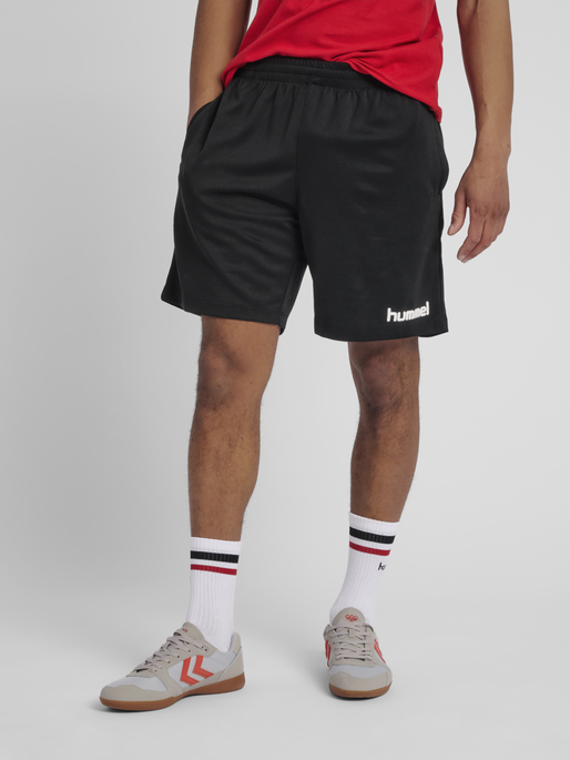 CORE POLY COACH SHORTS, BLACK, model
