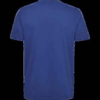 HUMMEL GO KIDS COTTON LOGO T-SHIRT S/S, TRUE BLUE, packshot