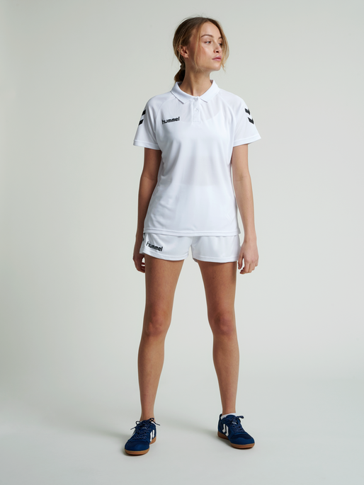 CORE FUNCTIONAL POLO WOMAN, WHITE, model